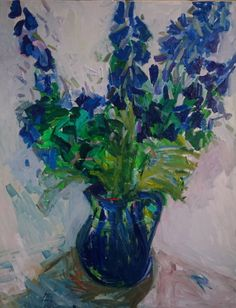 This still life is an emotional and expressive depiction of flowers in the morning light