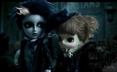 Edward scissorhand & Coral- Sweeney Tod & Mrs Lovetts by pinkydodi, via Flickr