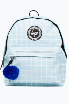 f5d06cc4ef Hype Blue Gridwork Backpack Hype Bags