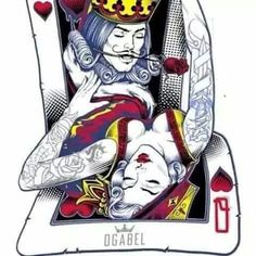 Wicked and mistress. Body Art Tattoos, Tattoo Drawings, King Crown Drawing, Playing Card Tattoos, Playing Cards, King Card, Vegas Tattoo, Skull Pictures, Lion Logo