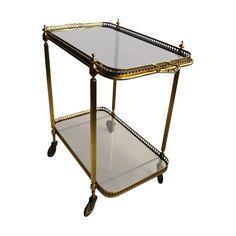 Vintage Mid Century Brass Drinks Trolley or Bar Cart