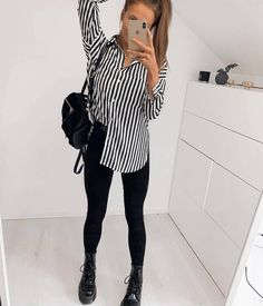 Work Clothes Convey Professionalism and Offer Durability Winter Fashion Outfits, Cute Casual Outfits, Look Fashion, Womens Fashion, Fashion 2020, Junior Outfits, Mode Outfits, Pinterest Fashion, All Black Outfit