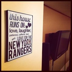 JUST NEEDS TO SAY CARDINALS!!! etsy // S2UDIO // this house runs on... (cool stuff and...) The New York RANGERS $20.00 #NYR #NHL #hockey