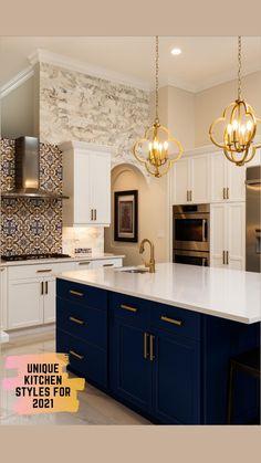 Beautiful Kitchen Designs, Modern Kitchen Design, Beautiful Kitchens, Cool Kitchens, Kitchen Cabinet Design, Home Decor Kitchen, Diy Kitchen, Kitchen Interior, Kitchen Backsplash