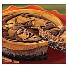Pumpkin Chocolate Cheesecake  - a great Thanksgiving dessert!