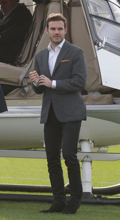 In true James Bond style, Juan Mata arrived at @manutd's Aon Training Complex by helicopter to complete his move from Chelsea in January 2014.