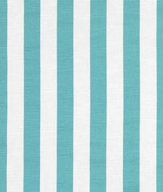 "Premier Prints Stripe in Coastal Blue Slub - Home Dec Fabric - 1 yard, Additional Available - 54"" wide $12.50"