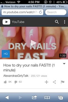Watch this video on youtube it us awesome i love my nails and there long.