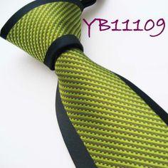 YIBEI Mens ties Bordered Navy Olive Green Stripes Woven Necktie Silk Neck tie fashion Ties for men dress shirts Wedding 8.5CM on AliExpress.com. $9.99