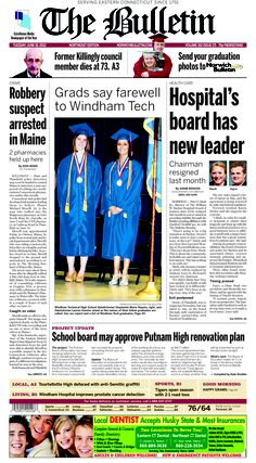 Tuesday, June 19, 2012 - Northeast Edition Subscribe to The Bulletin today: http://www.norwichbulletin.com/carousel/x465797803/ONLY-IN-PRINT-Stories-exclusively-in-today-s-Bulletin #ctnews #newlondoncounty #windhamcounty