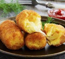 Recette - Croquettes de pommes de terre farcies à la mozzarella - Notée 4.2/5 par les internautes