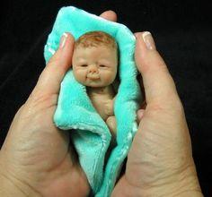 *POLYMER CLAY ~ OOAK Hand Sculpted Mini Artist Polymer Clay Baby Girl Art Doll Maddie | eBay