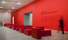 Bold colour - could be changed annually. Entrance Hall, Risking Reality, Berardo Collection Museum, R2 Design