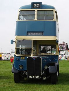 AEC Regent III Old Bradford Blue Buses - 1947   Flickr - Photo Sharing!