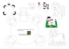 Moldes imprimibles en el blog, para adornar platos, vasos, cupcakes y marcadores de sitio en Fiestas Infantiles (Animales: vaca)