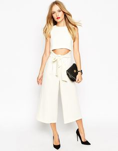 f5cd907a919 ASOS Culotte Jumpsuit With Cut Out Front at asos.com. Jumpsuits For Sale Trouser ...