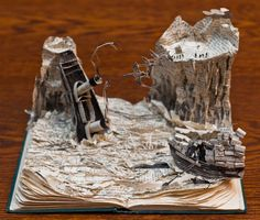 Anonymous Scottish Paper Artist Leaves More Mystery Book Sculptures in Edinburgh
