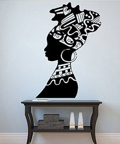 Woman Wall Vinyl Decal African Woman Vinyl Sticker Girl Decals Home Decor African Wall Art, African Art Paintings, African Interior Design, African Design, African American Art, African Women, Afrique Art, African Home Decor, Art Africain