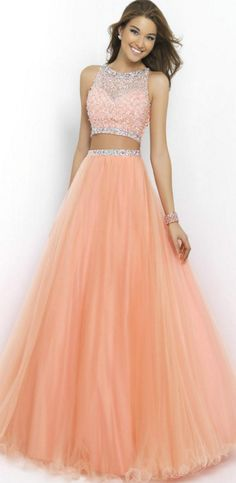 Charming Beads And Sequins Prom Dre