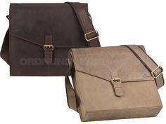 DETHLOFF - Leder Umhängetasche Aktentasche Messenger Bag - 2 Farben