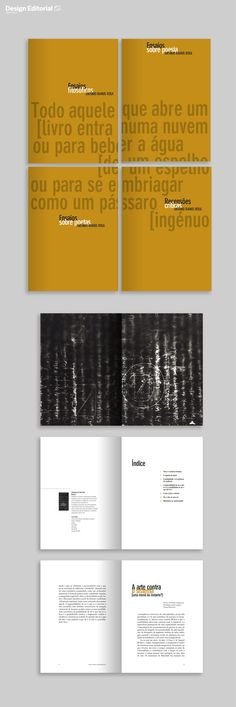 Book Design. Hugo Moreira. 4 books: António Ramos Rosa's Essays