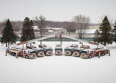 Fire Trucks in the Snow #Fire #Snow #Setcom