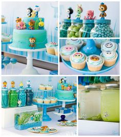 Octonauts themed birthday party with Such Cute Ideas via Kara's Party Ideas | Cake, decor, cupcakes, games, and MORE! KarasPartyIdeas.com #o...