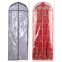 Length 147cm PVC Hot Sale Cheap Wedding Dress Bag Clothes Dust Cover Garment Bags Bridal Gown Bag Evening Dress Cover