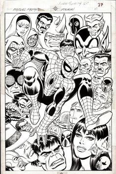 Original Comic Art titled Spider-man Pin-up Romita Sr and Machlan Marvel Fanfare located in William's Amazing Spider-man Comic Art Gallery Marvel Comics, Marvel Comic Universe, Marvel Comic Books, Comic Books Art, Spiderman Original, Amazing Spiderman, Comic Book Pages, Comic Book Artists, Comic Artist