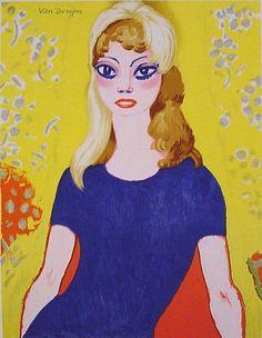 KEES VAN DONGEN - 'BRIGITTE BARDOT'. Litho, 1964 Oplage 150 exemplaren. Genummerd in potlood. Handgesigneerd in ballpoint. Afm 58 x 44 cm. Afgebeeld in Juffermans 'Kees van Dongen - Het Complete Grafische Werk' Nr. JL 42B.