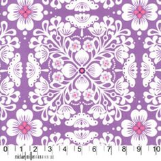 Michael Miller House Designer - Mod Prints - Pippa in Purple, comes in a lot of colors