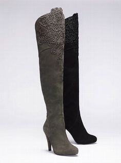 Embroidered Suede Boot - Colin Stuart - Victoria's Secret