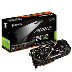 Gigabyte AORUS GeForce GTX 1080 GeForce GTX 1080 8GB GDDR5X  Tarjeta gráfica (NVIDIA GeForce GTX 1080 7680 x 4320 Pixeles 1784 MHz 2-Way SLI 1936 MHz)