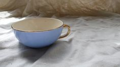 Vintage espresso Cup  coffee White Gold blue by ancienesthetique, $10.00