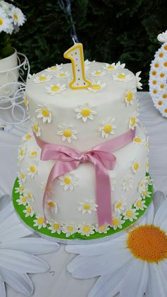 Cake by me, dogum günü, konsept papatya, daisy, birthday, geburtstag, DIY,