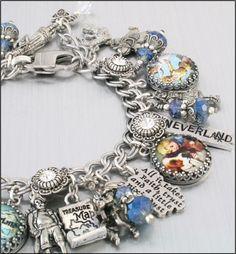 Peter Pan Charm Bracelet Silver Charm by BlackberryDesigns