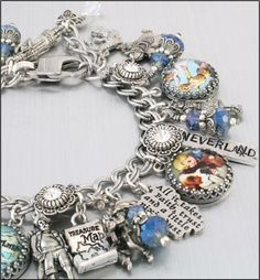 Peter Pan Charm Bracelet Silver Charm by BlackberryDesigns