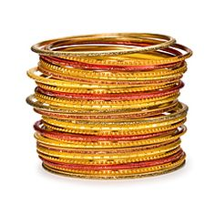 Orange Bangle Stack
