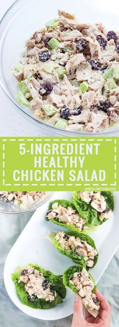 healthy chicken salad that can be eaten multiple ways So easy satisfying and perfect for any occasion healthychickensalad easydinneridea easylunchidea partysnack rotisseriechicken mealswithmagg Easy Delicious Recipes, Heart Healthy Recipes, Tasty, Yummy Food, 5 Ingredient Recipes, Chicken Salad Recipes, Salad Chicken, Chicken Salad Recipe Easy Healthy, Grilling