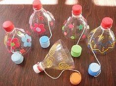Bilboquet bouteille plastique