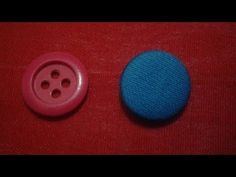 Easy way to make fabric button. Watch this video how I make a fabric button, to make a fabric button you need normal button and some waste cloth. Sewing Lessons, Sewing Hacks, Sewing Tutorials, Sewing Basics, Diy Buttons, How To Make Buttons, Back Neck Designs, Fashion Sewing, Women's Fashion