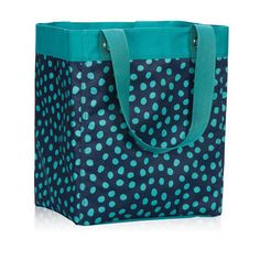 Essential Storage Utility Tote In Navy Lotsa Dots
