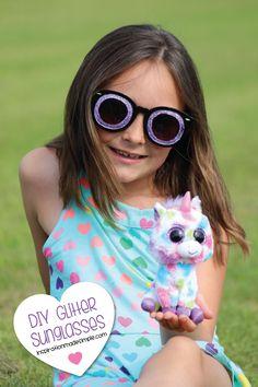 DIY Glitter Sunglass