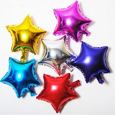 10 inch Five Star Promotion Colorful Air Foil Balloon For Party Supply Promotion  Birthday Advertising Wedding Balloon #>=#>=#>=#>=#> Click on the pin to check out discount price, color, size, shipping, etc. Save and like it!