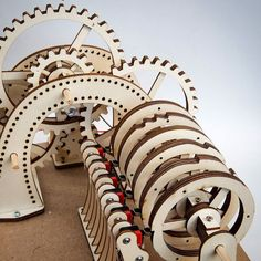 Rotor timeline. Final tests. #lasercut #mechanism #automata #archiveproject #maker #gears