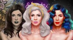 Marina and The Diamonds artwork by Gabriel Marques (Mr GM) for the Neon Nature Tour