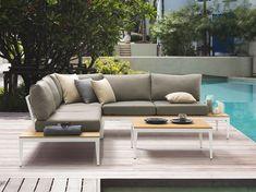 Posit aluminium garden corner sofa set - now only with free UK delivery - Positano, 5 Seater Corner Sofa, Corner Sofa Set, Garden Sofa Set, Modern Patio, Modern Rustic Interiors, Modular Furniture, Outdoor Lounge, Gardens