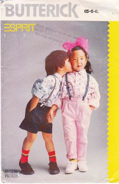 Butterick 6025 Espirit Child's Shirt, Pants, Shorts Sewing Pattern