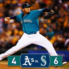 King Felix strikes out 11 in front of a Supreme Court crowd as #Mariners win 6-4 over #Athletics.  #AllHailFelix 4/11/14