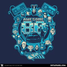 ''Awesome 80s Reprint'' by letter_q available today only, 5/03/17, at RIPT Apparel